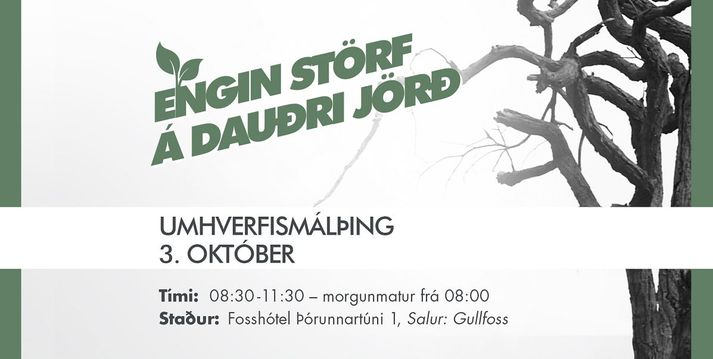 Þingið hefst klukkan 8:30 og stendur til klukkan 12.