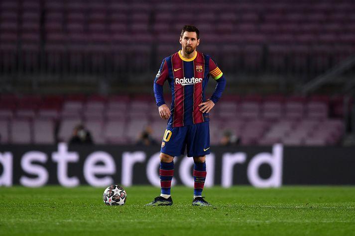 Lionel Messi og félagar í Barcelona fengu skell fyrir Paris Saint-Germain í Meistaradeild Evrópu í vikunni.