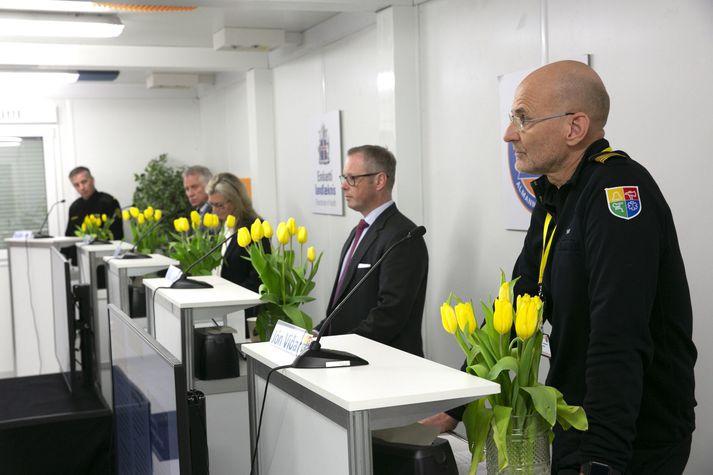 Jón Viðar var gestur á upplýsingafundi almannavarna vegna kórónuveirunnar í dag, 11. apríl.