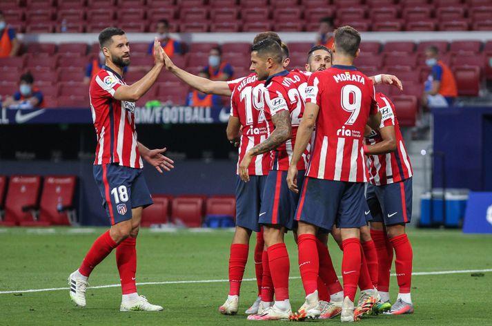 Atlético Madrid getur komist í undanúrslit Meistaradeildar Evrópu í kvöld.