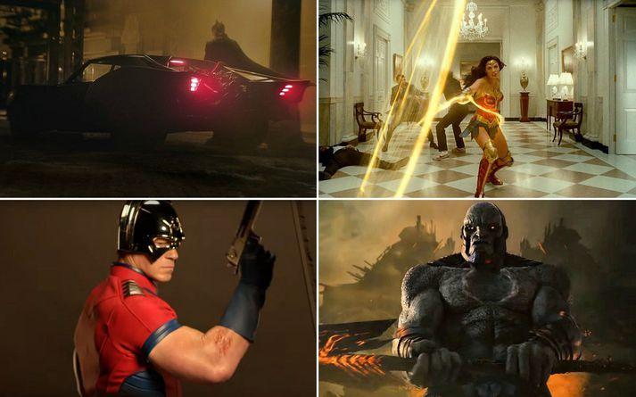 Batman, Wonder Woman, Peacemaker og Uxas/Darkseid.
