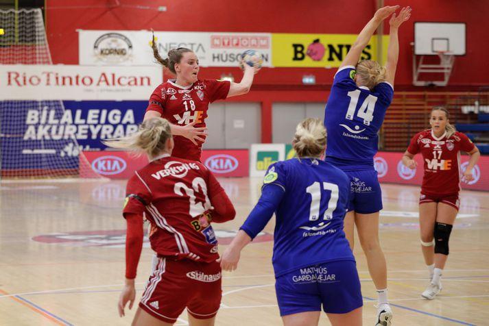 Berta Rut skoraði átta mörk gegn Búlgaríu.