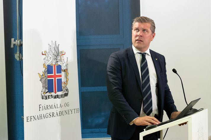 Bjarni Benediktsson, fjármálaráðherra, við kynningu fjárlaga fyrr á árinu.