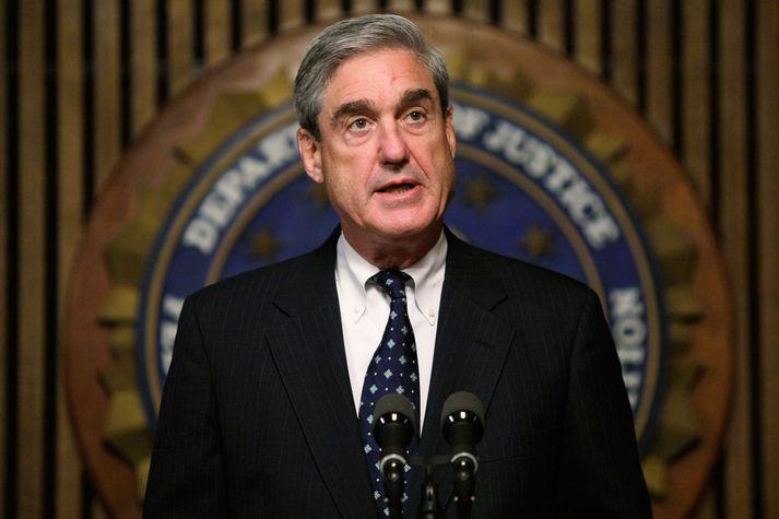 Robert Mueller, fyrrverandi forstjóri alríkislögreglunnar FBI, stýrir rannsókninni á meintu samráði framboðs Trump við Rússa árið 2016.