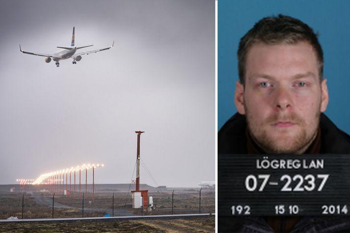 Lögreglan yfirfer nú gögn til að komast að því hvort Sindri hafi verið í einni af flugvélunum sem fóru í morgun.