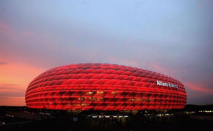 Ísland gæti leikið á Allianz Arena í München á EM næsta sumar.