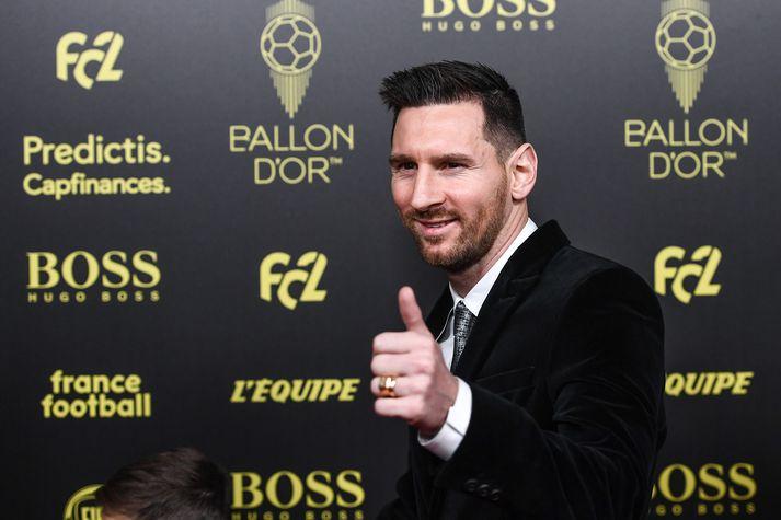 Besti fótboltamaður í heimi 2019, Lionel Messi.