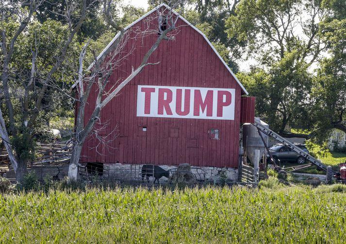 Í gær hélt Trump ræðu í Missouri þar sem hann biðlaði til bænda og bað þá um að sýna þolinmæði.