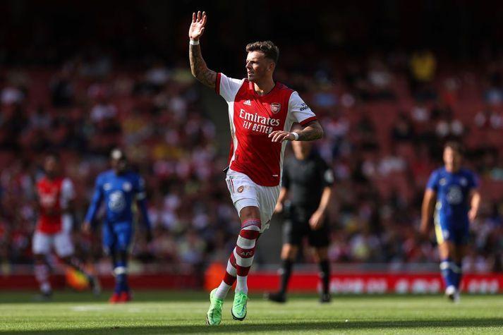 Ben White mættur í Arsenal treyjuna.