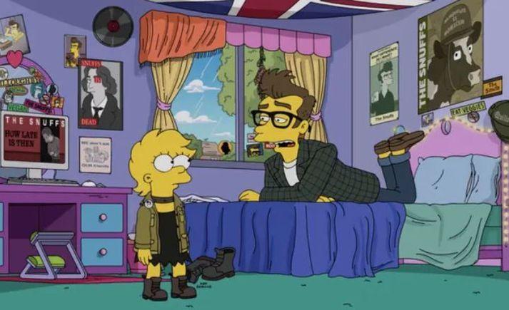 Lisa SImpson með Quilloughby sem er að hluta til byggður á enska söngvaranum Morrissey.