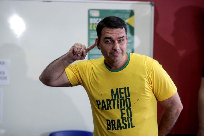 Flavio Bolsonaro er öldungadeildarþingmaður og sonur Brasilíuforseta.