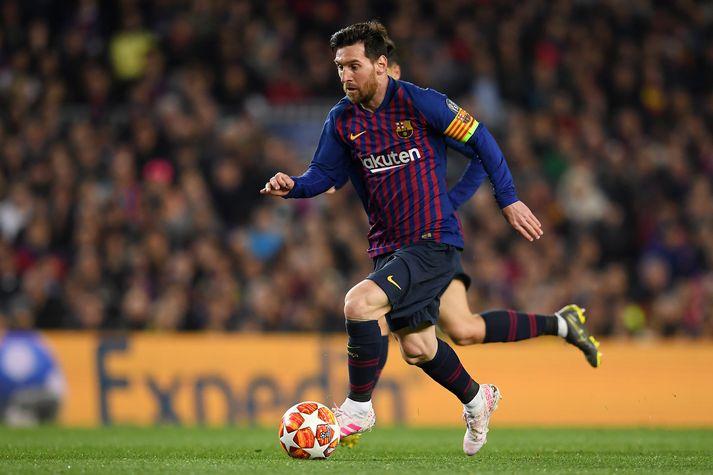 Messi í leiknum í kvöld.
