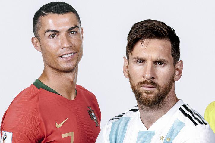 Lionel Messi og Cristiano Ronaldo.