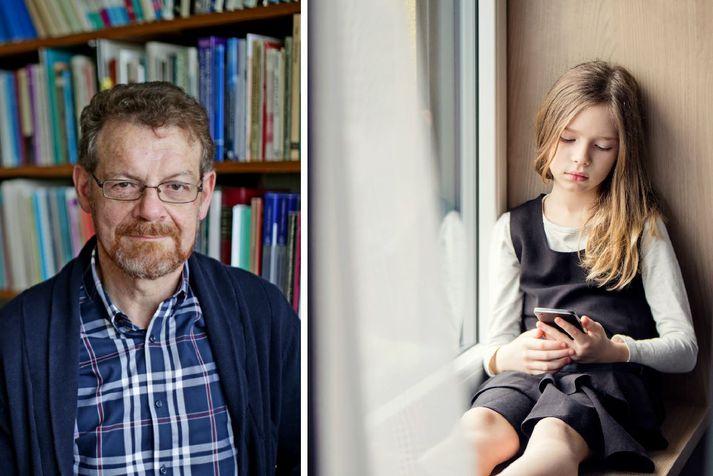 Eiríkur Rögnvaldsson prófessor segir að hætta steðji að þeim snjalltækjum sem nánast eingöngu skilji og miðli ensku.