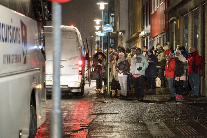 Bandarískir ferðamenn eru fyrirferðamiklir á Íslandi.
