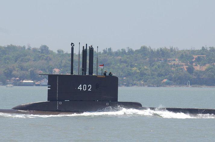 KRI Nanggala-402 kafbátu indónesíska sjóhersins í september.