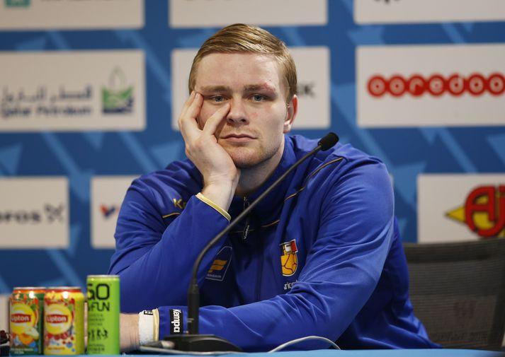 Aron Pálmarsson er ekki með íslenska landsliðinu á HM í Egyptalandi.