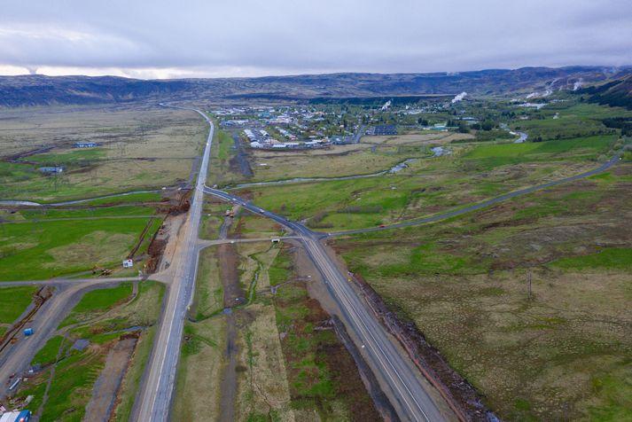 Maðurinn var handtekinn í Hveragerði.
