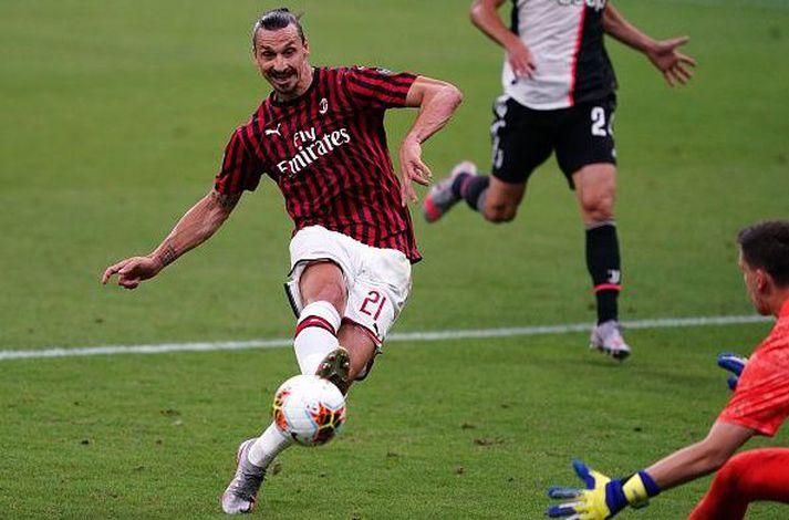 Zlatan í leiknum gegn Juventus í gær þar sem hann lék vel frá byrjun.