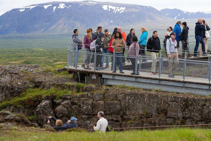 Frá Þingvöllum, sumarið 2018.