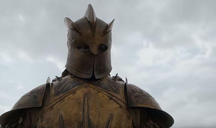 Hafþór skellti sér í Game Of Thrones búninginn fyrir auglýsinguna.
