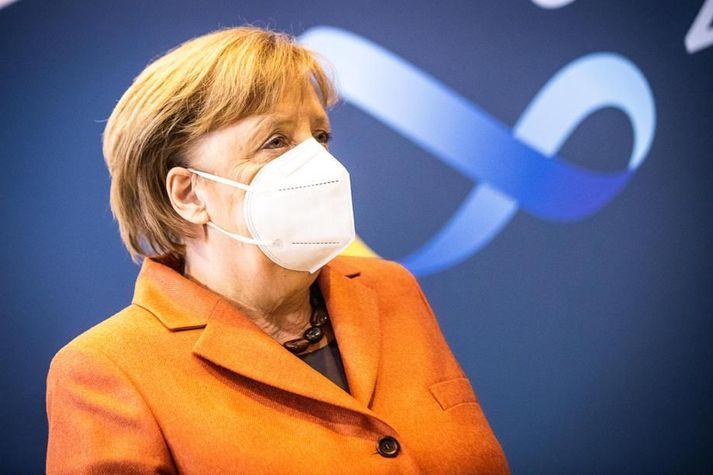 Angela Merkel kynnti í dag hertar aðgerðir sem taka gild á miðvikudaginn í Þýskalandi.