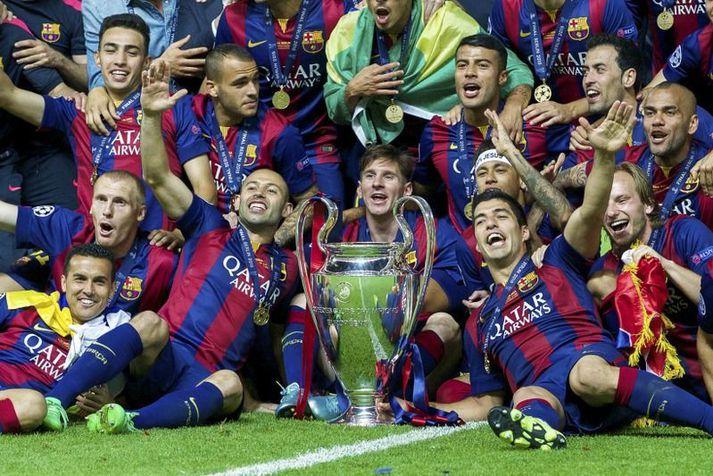 Barcelona er eitt af félögum sem eru ennþá með stæla við UEFA vegna Ofurdeildarinnar. Lionel Messi og félagar unnu Meistaradeildina síðast fyrir sex árum.