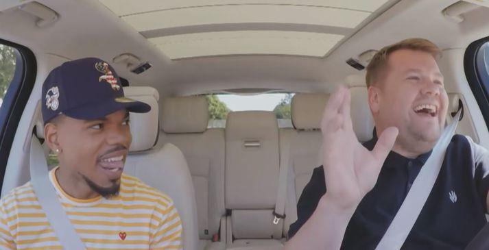 Chance the Rapper og James Corden á rúntinum um Los Angeles.