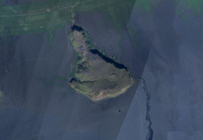 Svartir sandar eru í kringum Hjörleifshöfða.