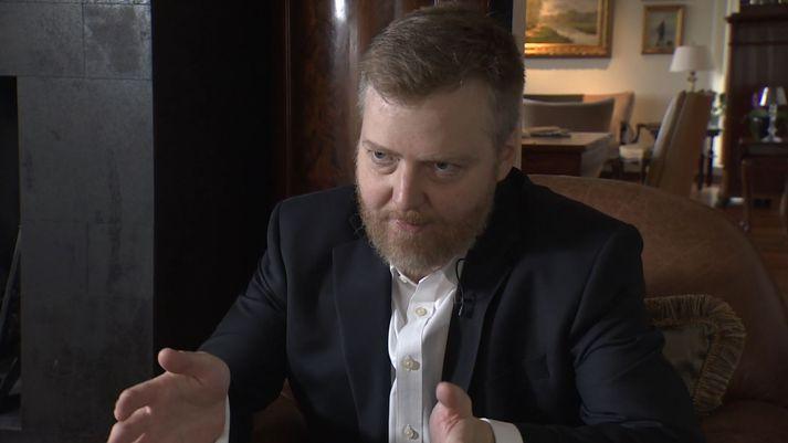 Sigmundur Davíð verður í þætti Íslands í dag í kvöld.