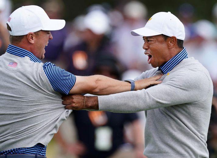 Justin Thomas og Tiger Woods verða báðir á ferðinni í Kaliforníu í dag.