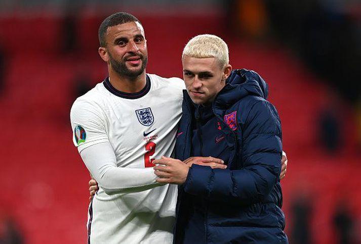Foden og Walker mæta Þjóðverjum á Wembley.
