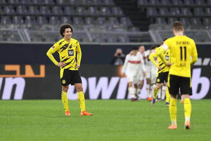 Dortmund fékk á sig fimm mörk og steinlá á heimavelli í dag.