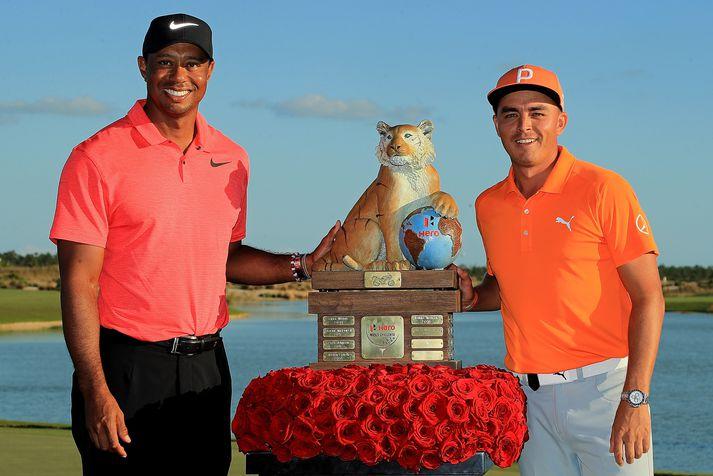 Tiger Woods og Ricke Fowler.