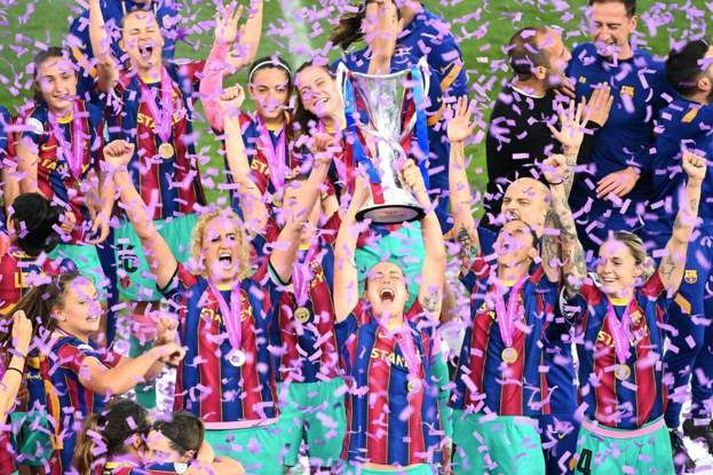 Barcelona varð í kvöld Evrópumeistari.