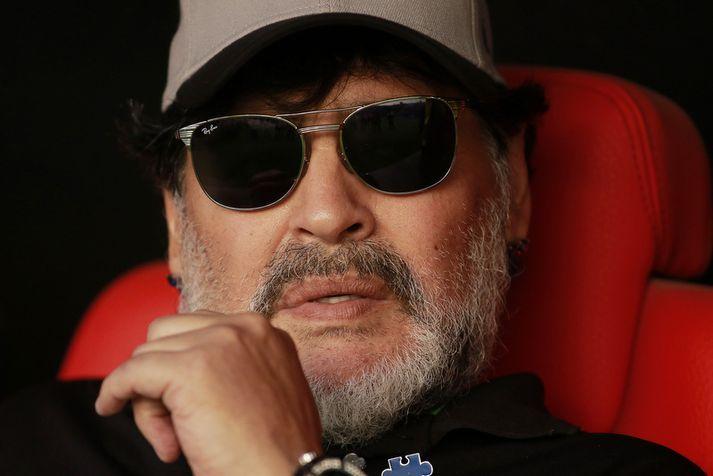 Diego Armando Maradona þjálfar nú lið Dorados de Sinaloa í Mexíkó.