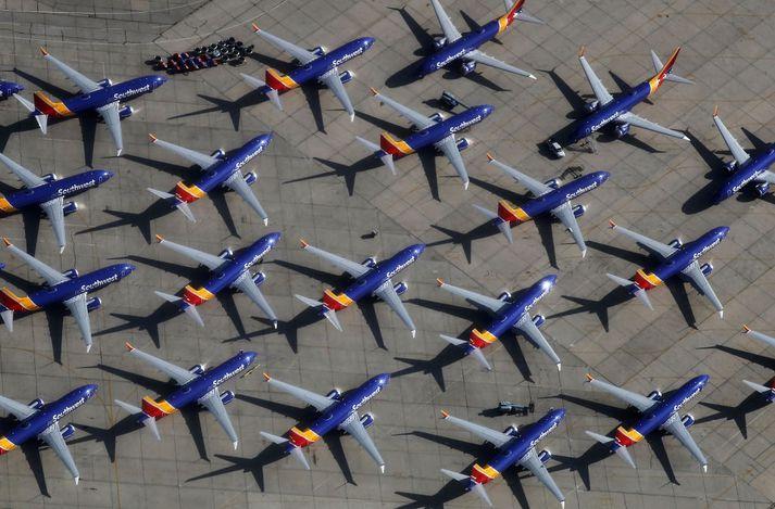 Boeing 737 MAX vélar Southwest hafa verið í biðstöðu í marga mánuði.
