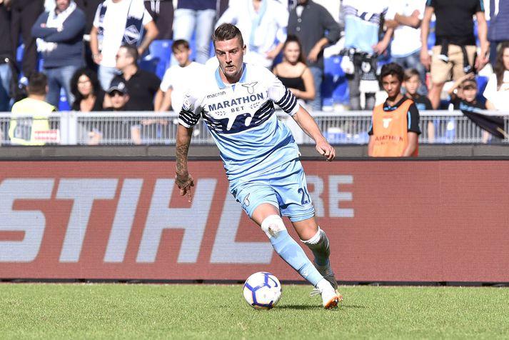 Sergej Milinkovic-Savic í leik með Lazio.