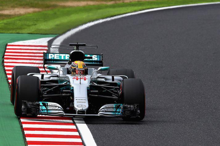 Lewis Hamilton var í sérflokki í dag.