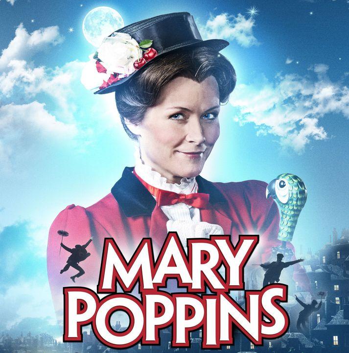 Jóhanna Vigdís Arnardóttir fór með hlutverk Mary Poppins.