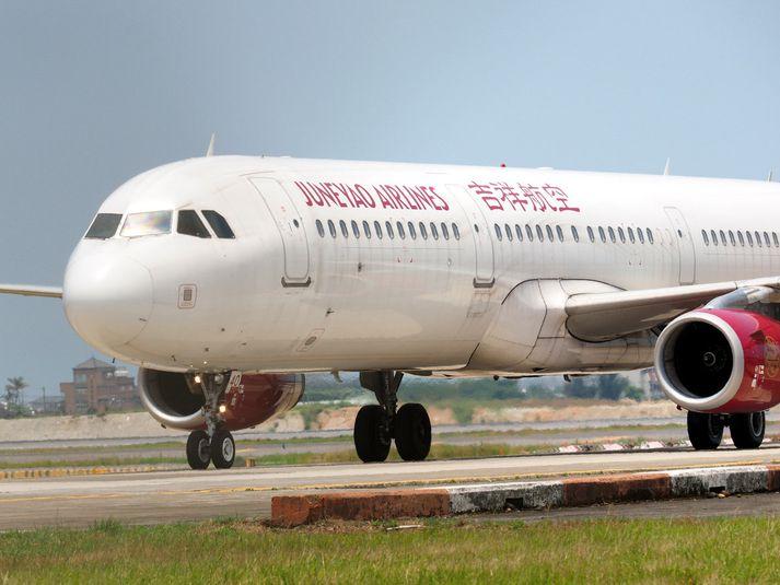 Juneyao Air er með daglegt flug mili Shanghai og Helsinki.