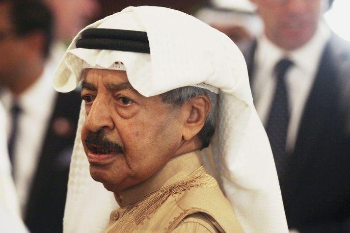 Khalifa bin Salman Al Khalifa. Ekki liggur fyrir hvers vegna hann dó en hann hafði verið undir læknishöndum í Bandaríkjunum.
