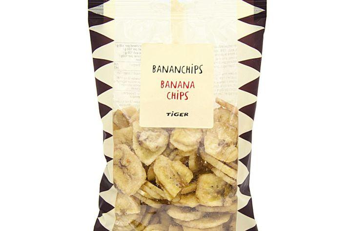 Bananaflögurnar eru framleiddar á Filippseyjum.