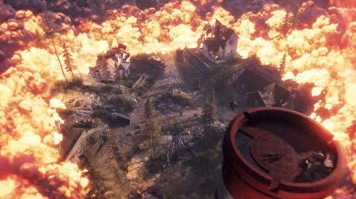 Eldhaf nálgast síðustu spilararana í Battle Royale.