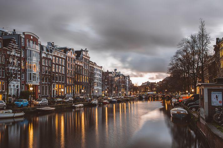 Íslendingurinn var handtekinn í Amsterdam um helgina.