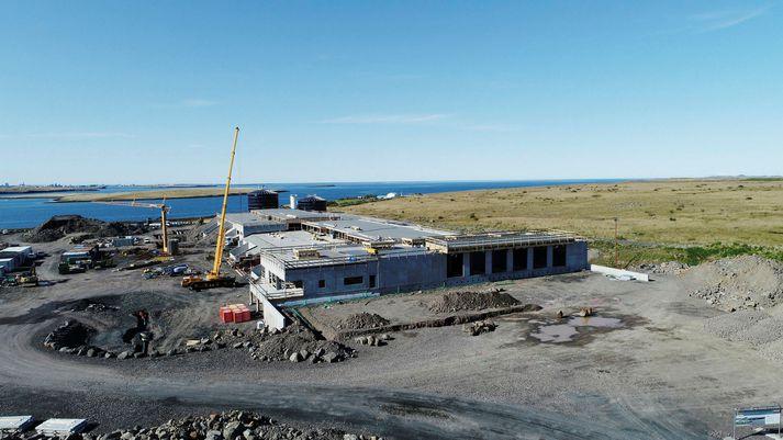 Frá framkvæmdum við Gaju, gas- og jarðgerðarstöð SORPU á Álfsnesi.