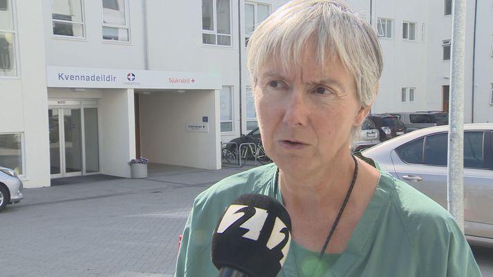 Hulda Hjartardóttir, yfirlæknir á fæðingardeild Landspítalans.