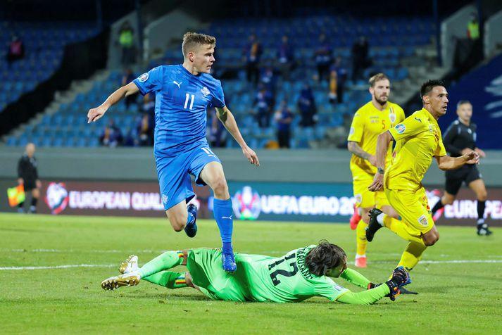 Ísland vann 2-1 sigur gegn Rúmeníu þegar liðin mættust loks, í október í fyrra.