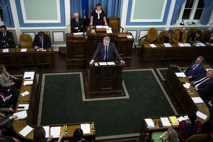 Benedikt Jóhannesson, fjármála- og efnahagsráðherra kynnti frumvarpið á þriðjudag.
