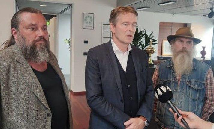 Frá vinstri: FjölnirGeir Bragason,Árni H. Kristjánsson ogTómas V. Albertsson.